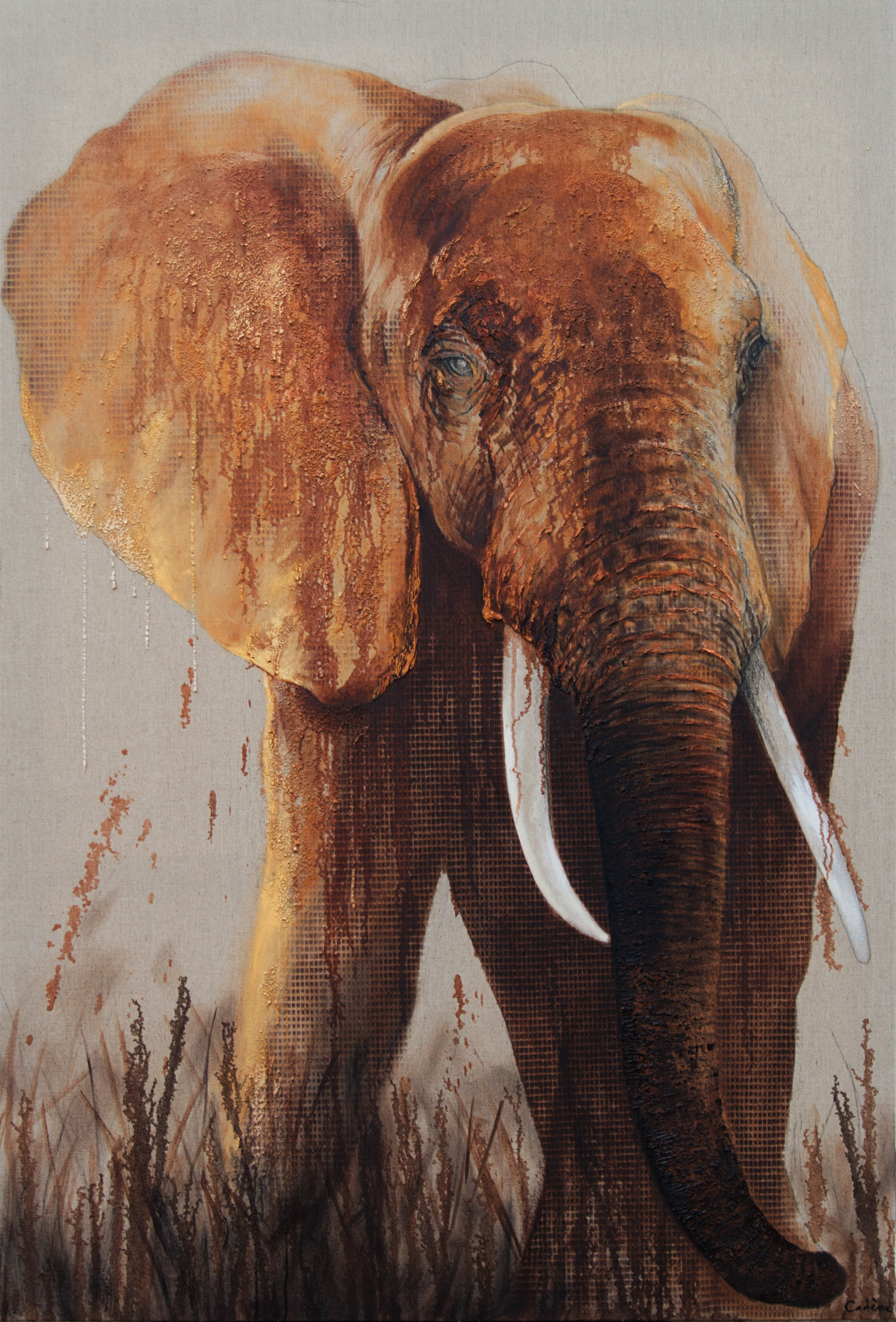 Elephant- Florence Cadene- Contemporary Painting